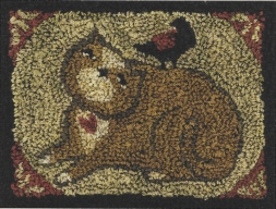 Kind Kitty - Punch Needle Pattern or Punch Needle Kit
