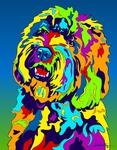 Labradoodle - Michael Vistia Dog Rug Hooking Pattern & Dog Rug Punching Pattern