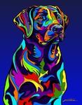 Labrador Retriever - Michael Vistia Dog Rug Hooking Pattern & Dog Rug Punching Pattern