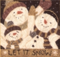 Let it Snow - Punch Needle Pattern or Punch Needle Kit