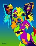 Long Haired Chihuahua - Michael Vistia Dog Punch Needle