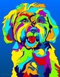 Maltese - Michael Vistia Dog Rug Hooking Pattern & Dog Rug Punching Pattern