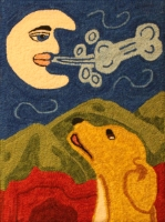 Moon Doggie - Robert Rodenberger Rug Punching Pattern and Kit