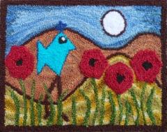 Moonlight Bird - Robert Rodenberger Punch Needle Pattern or Punch Needle Kit