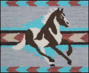 Navajo Paint - Horse Rug Punching Pattern and Rug Punching Kit