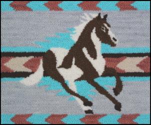 Navajo Paint - Horse Rug Punching Pattern and Rug Punching Kit
