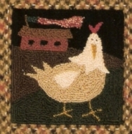 Night Patrol - Chicken Punch Needle Pattern and Punch Needle Kit
