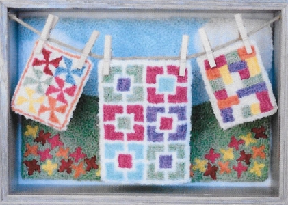 Oh You Pretty Things Quilted Lovelies - Punch Needle Pattern or Punch Needle Kit