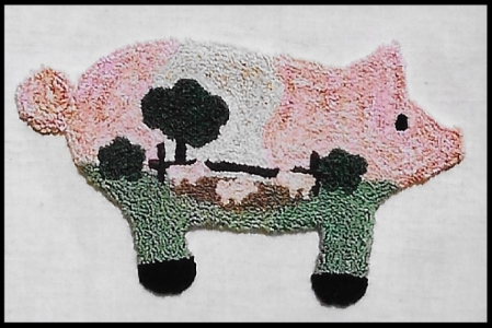 Oink Oink Pig Pen - Punch Needle Pattern or Punch Needle Kit