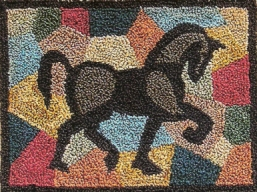Patchwork Pony - Horse Punch Needle Pattern or Punch Needle Kit
