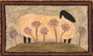 Peaceful Prarie - Sheep Punch Needle Pattern or Punch Needle Kit
