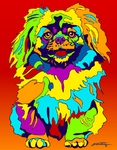Pekinese - Michael Vistia Dog Rug Hooking Pattern & Dog Rug Punching Pattern
