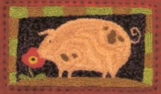 Piggy Perfume  - Pig Punch Needle Pattern and Punch Needle Kit