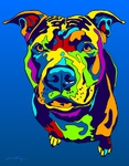 Pittbull Terrier 2 - Michael Vistia Dog Rug Hooking Pattern & Dog Rug Punching Pattern