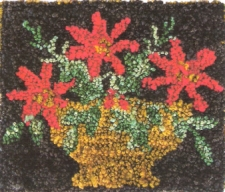 Poinsettias - Punch Needle Pattern or Punch Needle Kit