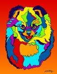 Pomerainian 2 - Michael Vistia Dog Rug Hooking Pattern & Dog Rug Punching Pattern