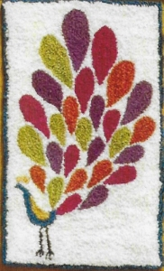Proud as a Peacock - Punch Needle Pattern or Punch Needle Kit