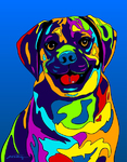 Puggle 2 - Michael Vistia Dog Punch Needle Pattern & Dog Punch Needle Kits