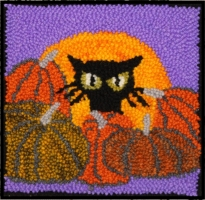 Pumpkin Kitty - Bee Skep Rug Punching Kit