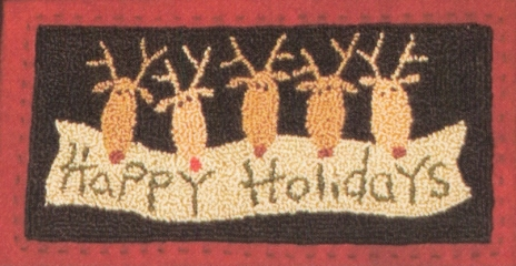 Reindeer Cheer Punch Needle Pattern or Punch Needle Kits