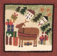 Reindeer Route - Punch Needle Pattern or Punch Needle Kit