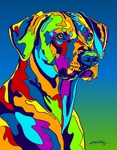 Rhodesian Ridgeback - Michael Vistia Dog Punch Needle Pattern & Dog Punch Needle Kits