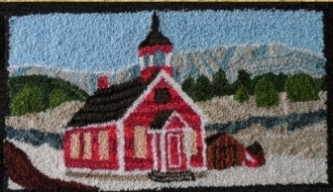 Rocky Mountain School - Punch Needle Pattern or Punch Needle Kit