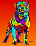 Rottweiler - Michael Vistia Dog Punch Needle Pattern & Dog Punch Needle Kits
