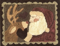 Santas Helper PN082 - Punch Needle Patterns or Punch  Needle Kits