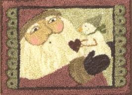 Santas Surprise - Punch Needle Pattern or Punch Needle Kit