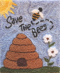 Save The Bees - Bee Punch Needle Pattern or Punch Needle Kit