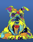 Schnauzer - Michael Vistia Dog Punch Needle Pattern & Dog Punch Needle Kits