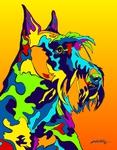 Scotish Terrier - Michael Vistia Dog Rug Hooking Pattern & Dog Rug Punching Pattern