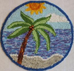 Seaside Glory - Rug Punching Pattern or Rug Punching Kit