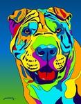 Sharpe - Michael Vistia Dog Rug Hooking Pattern & Dog Rug Punching Pattern