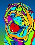 Sharpe 2 - Michael Vistia Dog Rug Hooking Pattern & Dog Rug Punching Pattern