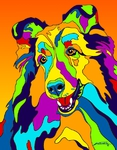 Shelty - Michael Vistia Dog Rug Hooking Pattern & Dog Rug Punching Pattern