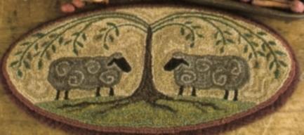 Shepherds Shade  - Sheep Punch Needle Pattern or Punch Needle Kit