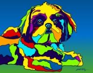 Shih Tzu - Michael Vistia Dog Rug Hooking Pattern & Dog Rug Punching Pattern