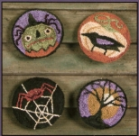 Sleepy Hollow Button Pins Punch Needle Pattern & Punch Needle Kit