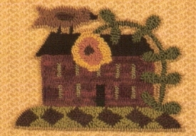 Spring Welcome  - House Punch Needle Pattern or Punch Needle Kit