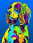 Springer Spaniel - Michael Vistia Dog Punch Needle