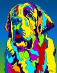 St Bernard 2 - Michael Vistia Dog Rug Hooking Pattern & Dog Rug Punching Pattern