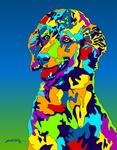 Standard Poodle - Michael Vistia Dog Rug Hooking Pattern & Dog Rug Punching Pattern