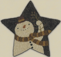 Star Shaped Snowman - Punch Needle Pattern or Punch Needle Kit