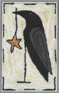 Starring Mr Crow - Punch Needle Pattern or Punch Needle Kit
