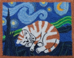 Starry Kitty - Robert Rodenberger Punchneedle Pattern or Kit