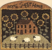 Sunflower House - Punch Needle Pattern or Punch Needle Kit