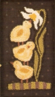 Sweet Blossom - Chick Punch Needle Pattern or Punch Needle Kit