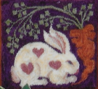 Sweetheart Bunny - Punch Needle Pattern or Punch Needle Kit